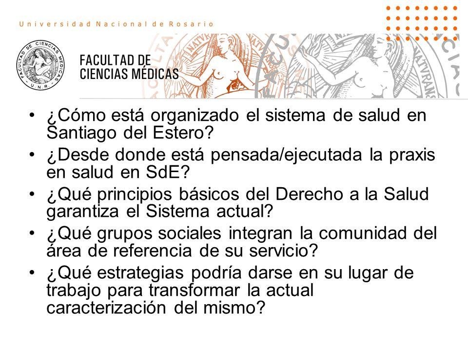 ¿Cómo está organizado el sistema de salud en Santiago del Estero
