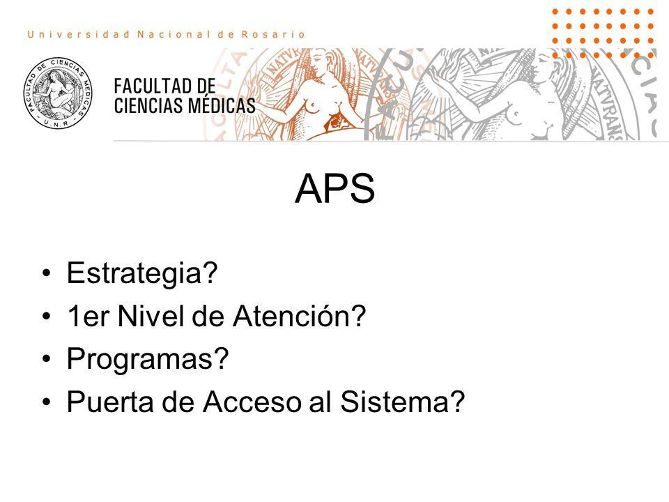 APS Estrategia 1er Nivel de Atención Programas