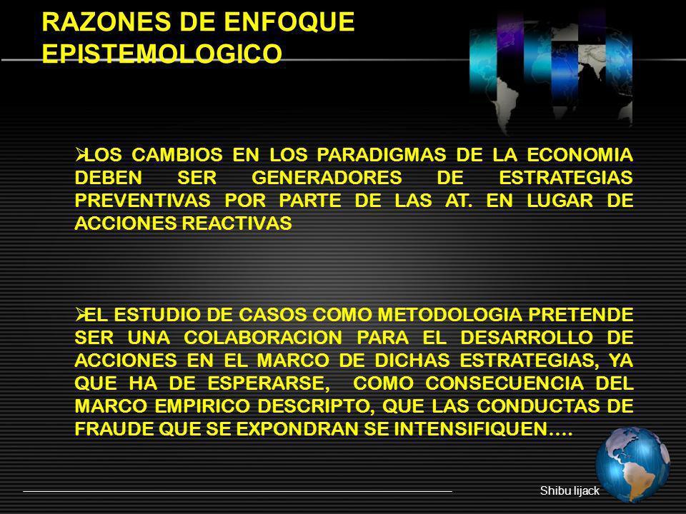 RAZONES DE ENFOQUE EPISTEMOLOGICO
