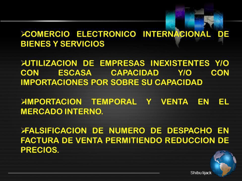 COMERCIO ELECTRONICO INTERNACIONAL DE BIENES Y SERVICIOS