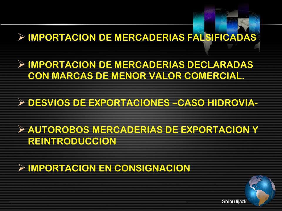 IMPORTACION DE MERCADERIAS FALSIFICADAS