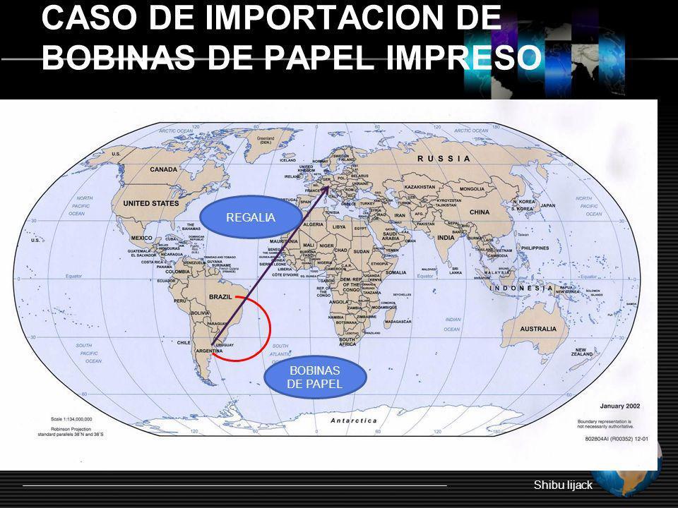 CASO DE IMPORTACION DE BOBINAS DE PAPEL IMPRESO