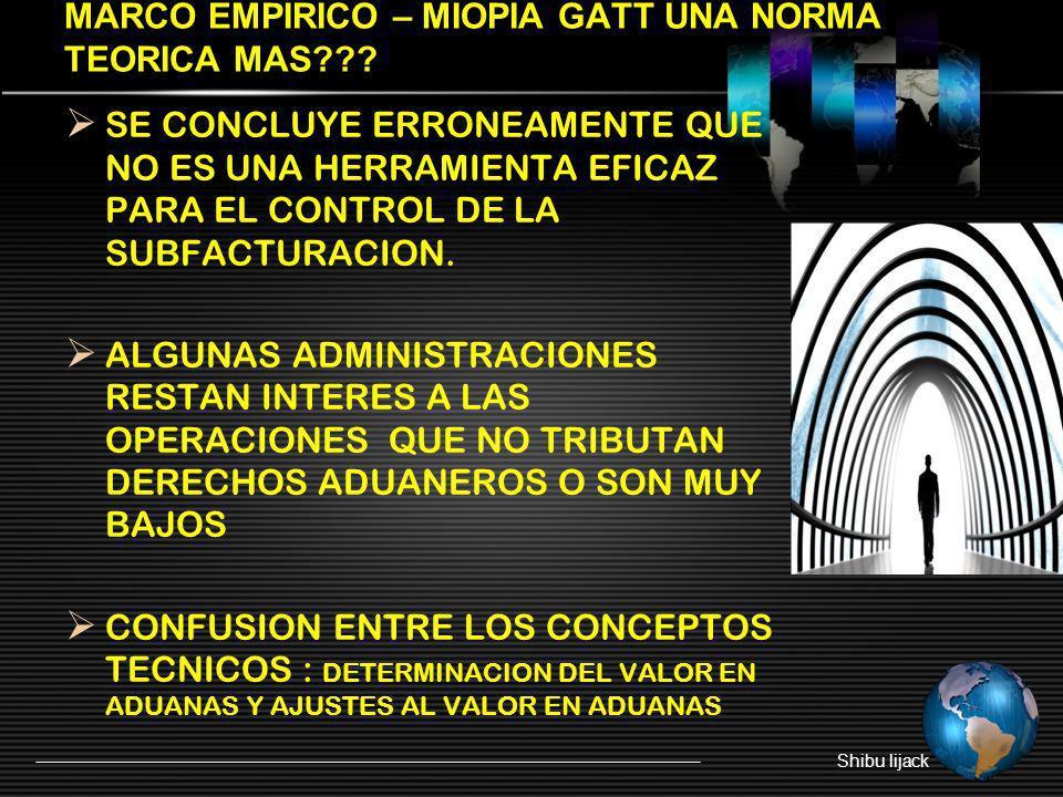 MARCO EMPIRICO – MIOPIA GATT UNA NORMA TEORICA MAS