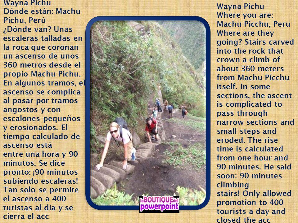 Wayna Pichu Dónde están: Machu Pichu, Perú.