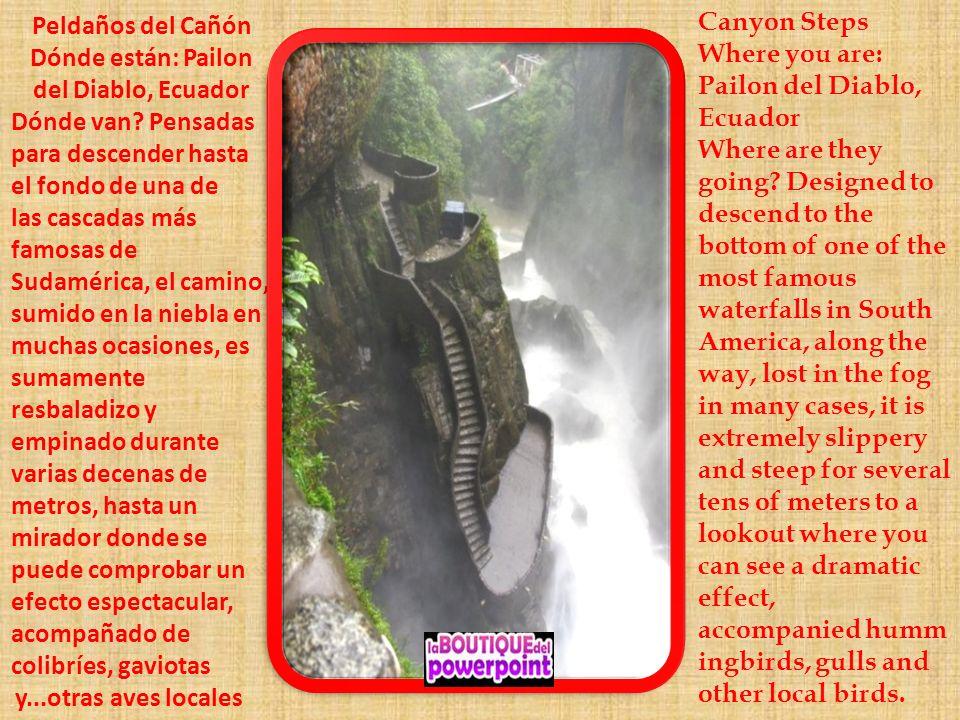 Dónde están: Pailon del Diablo, Ecuador