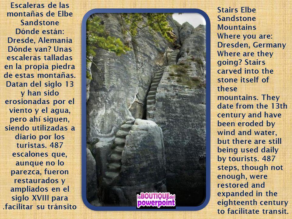 Escaleras de las montañas de Elbe Sandstone
