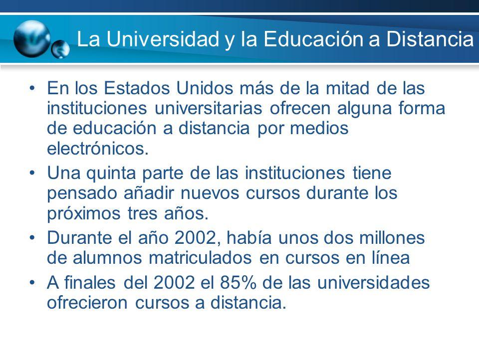 La Universidad y la Educación a Distancia