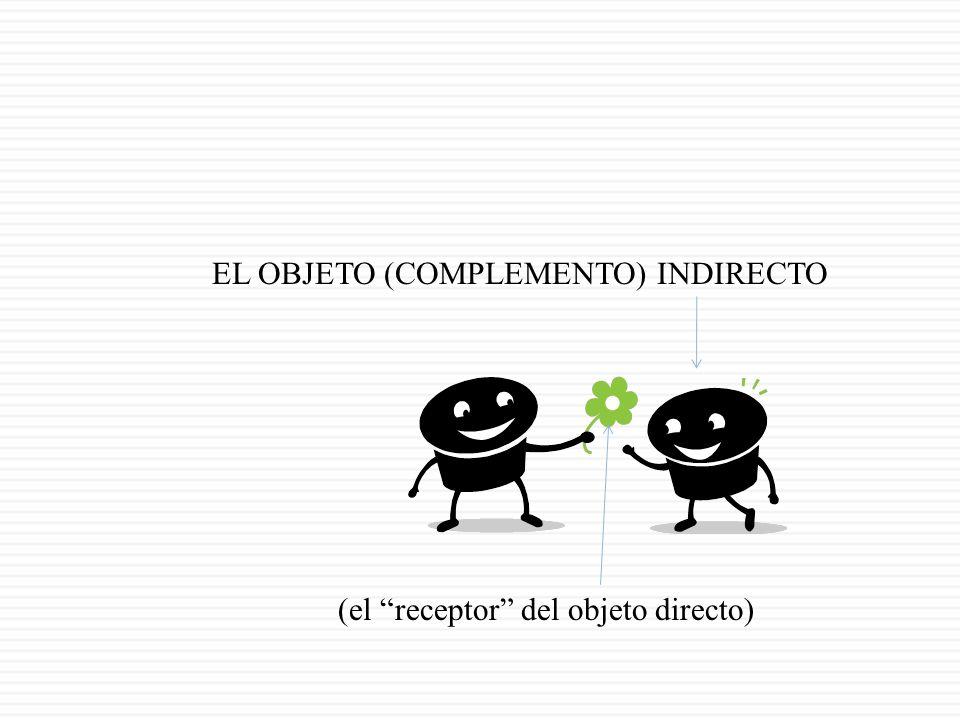 EL OBJETO (COMPLEMENTO) INDIRECTO