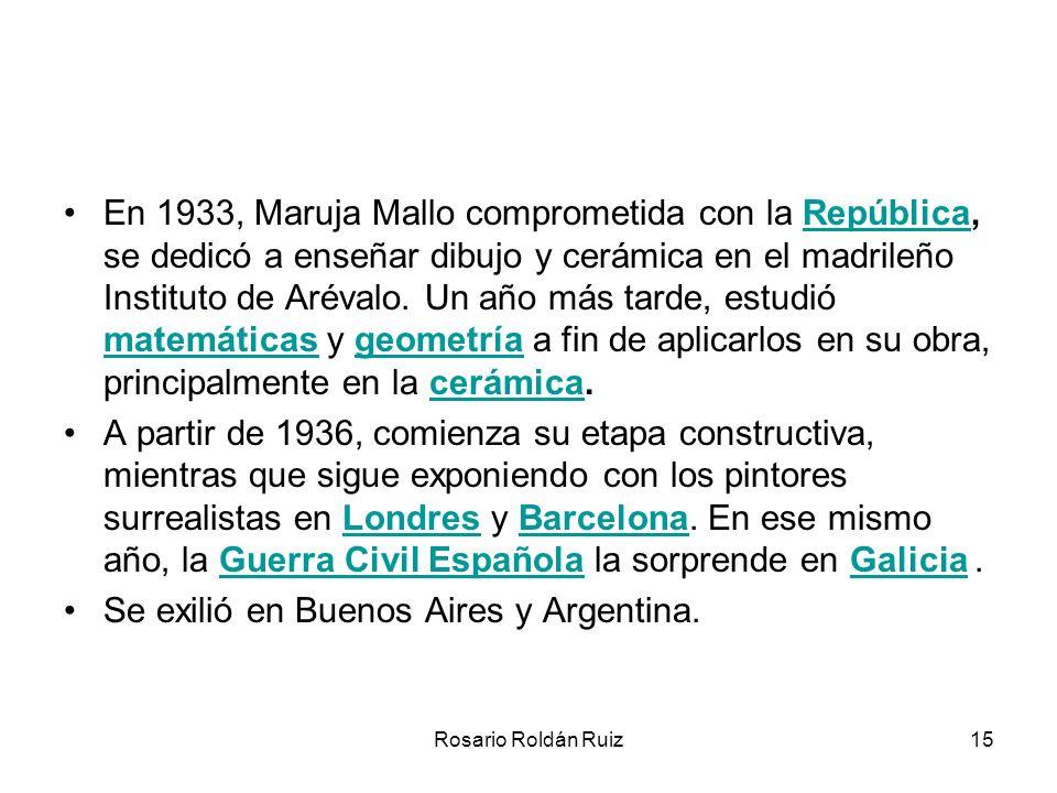 Se exilió en Buenos Aires y Argentina.