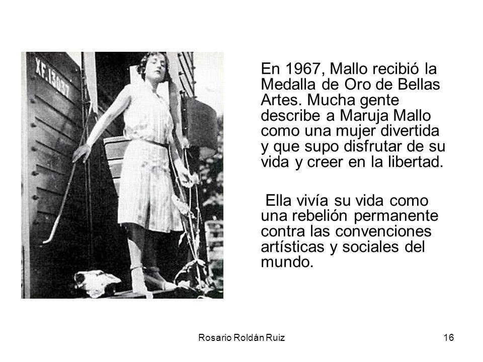 En 1967, Mallo recibió la Medalla de Oro de Bellas Artes