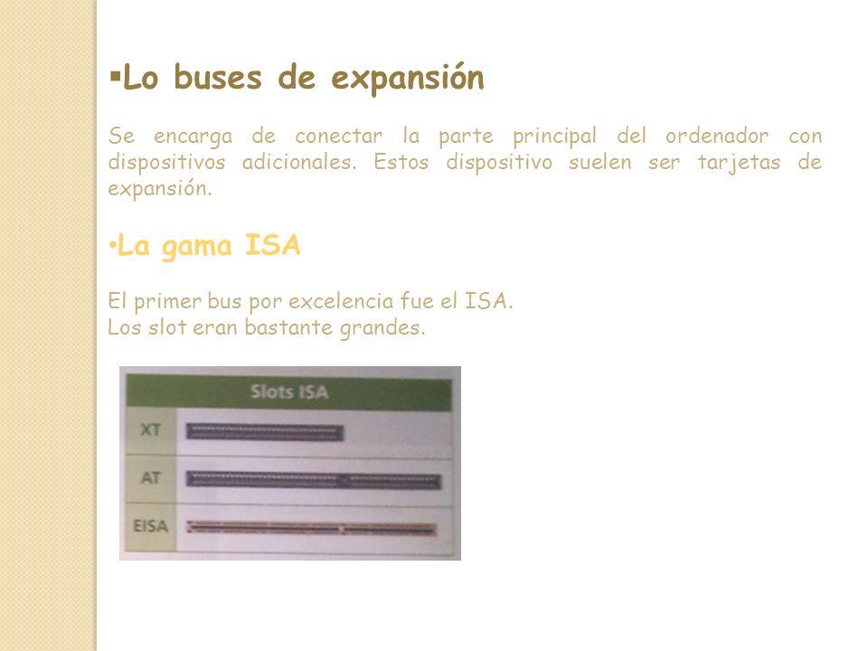 Lo buses de expansión La gama ISA
