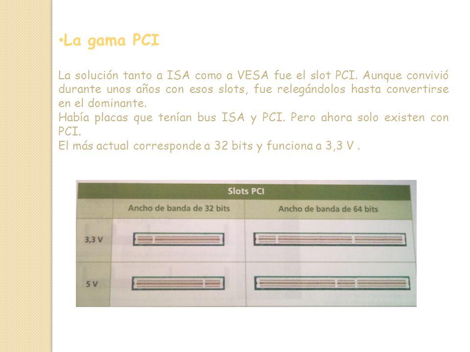 La gama PCI