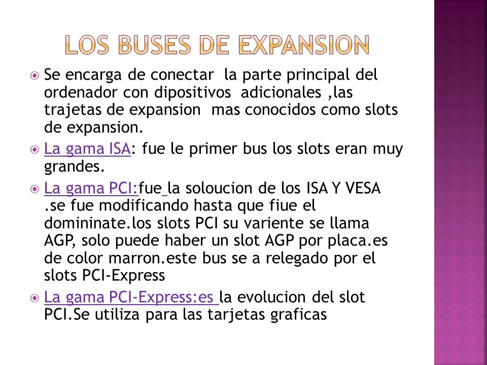 LOS BUSES DE EXPANSION