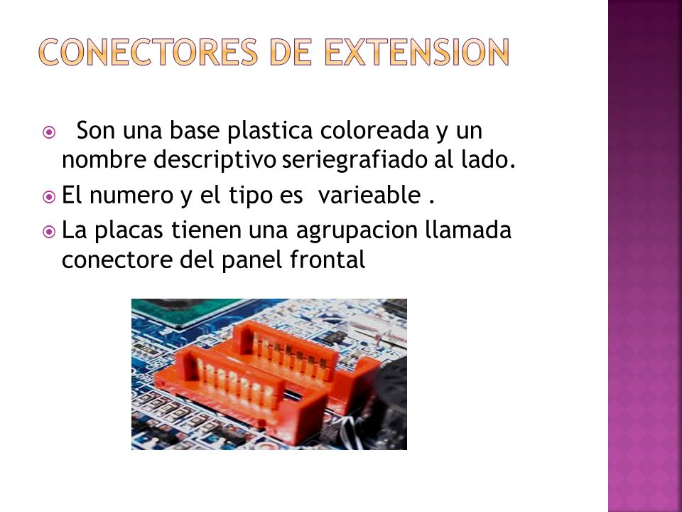 Conectores de extension