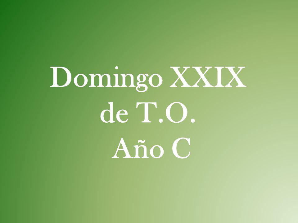 Domingo XXIX de T.O. Año C