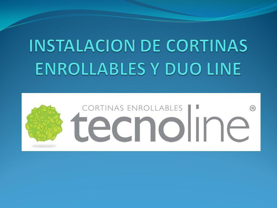 INSTALACION DE CORTINAS ENROLLABLES Y DUO LINE