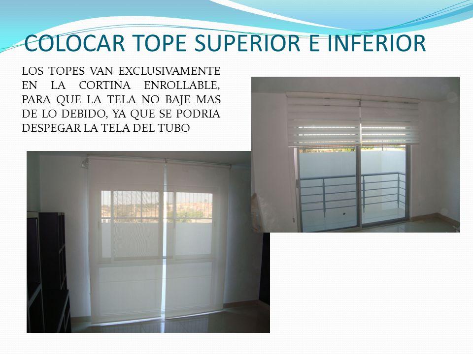 COLOCAR TOPE SUPERIOR E INFERIOR