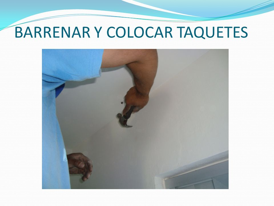 BARRENAR Y COLOCAR TAQUETES