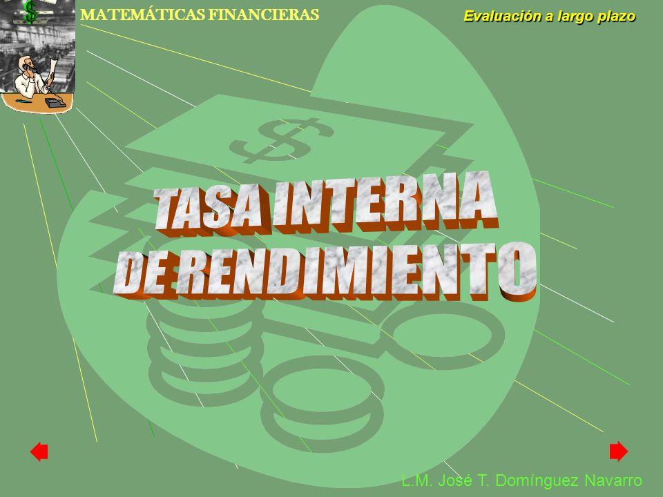 TASA INTERNA DE RENDIMIENTO