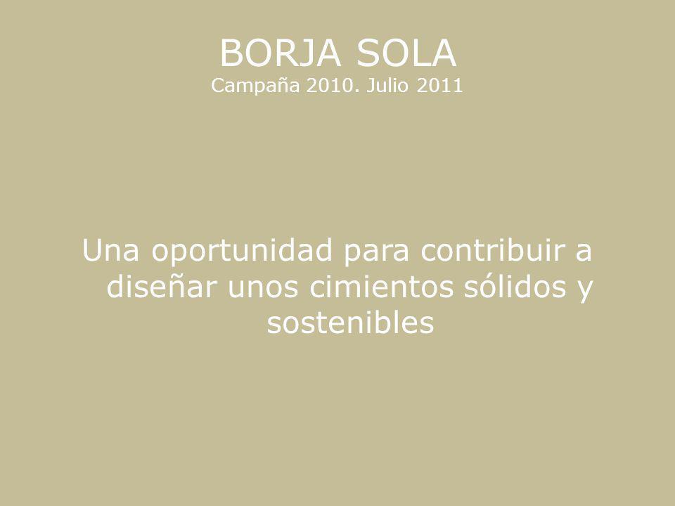 BORJA SOLA Campaña 2010. Julio 2011