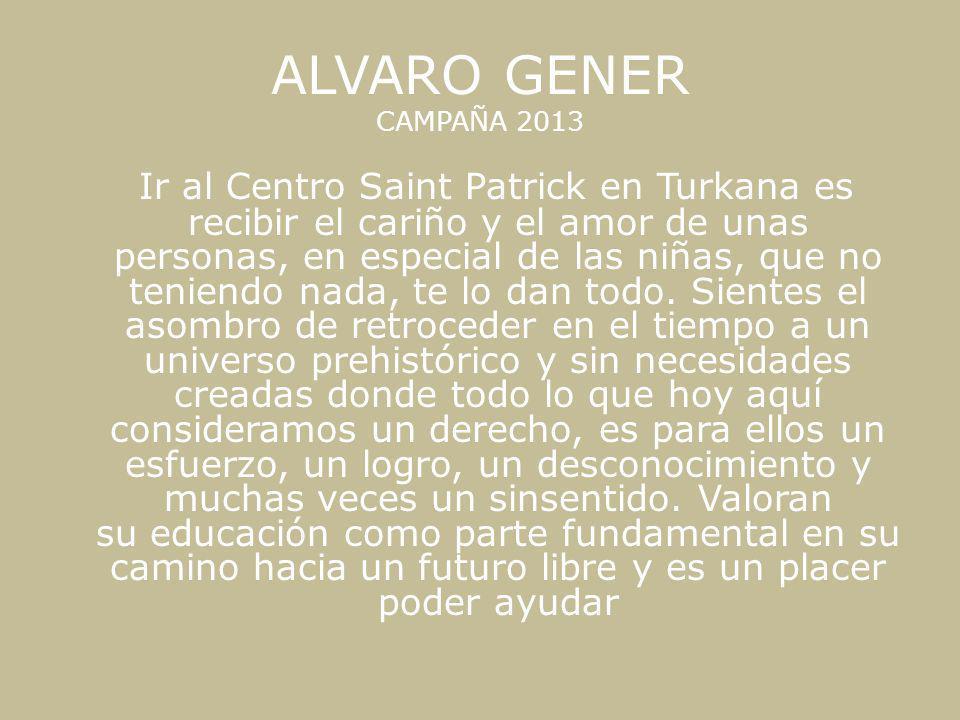 ALVARO GENER CAMPAÑA 2013