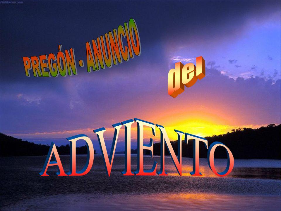 PREGÓN - ANUNCIO del ADVIENTO