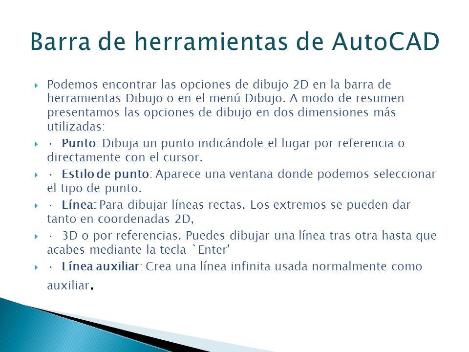 Barra de herramientas de AutoCAD