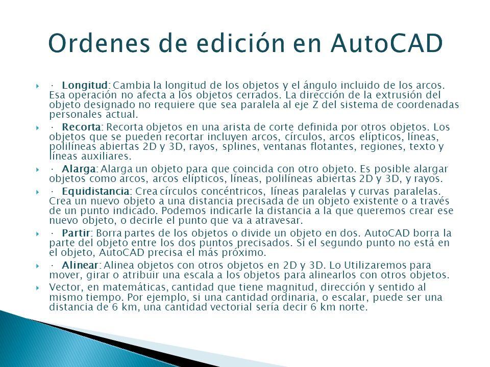 Ordenes de edición en AutoCAD