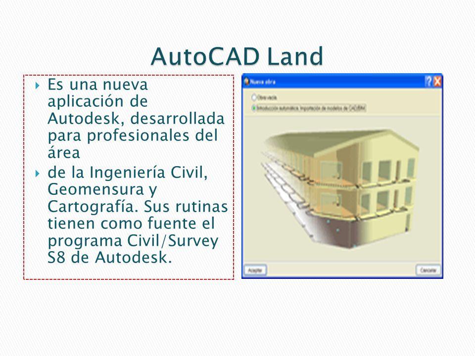 AutoCAD Land Es una nueva aplicación de Autodesk, desarrollada para profesionales del área.