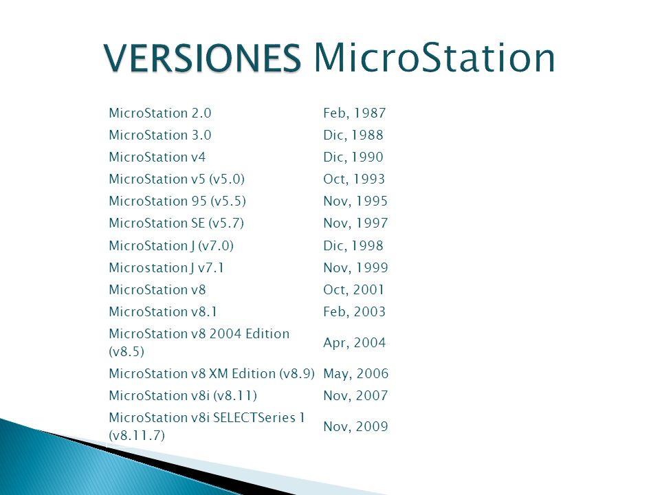 VERSIONES MicroStation