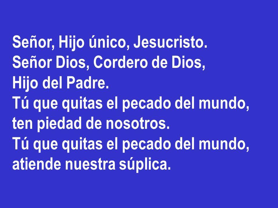 Señor, Hijo único, Jesucristo.