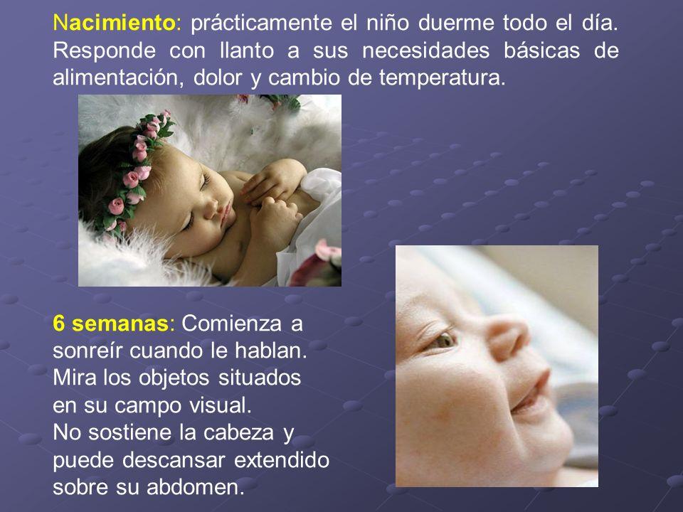 Nacimiento: prácticamente el niño duerme todo el día