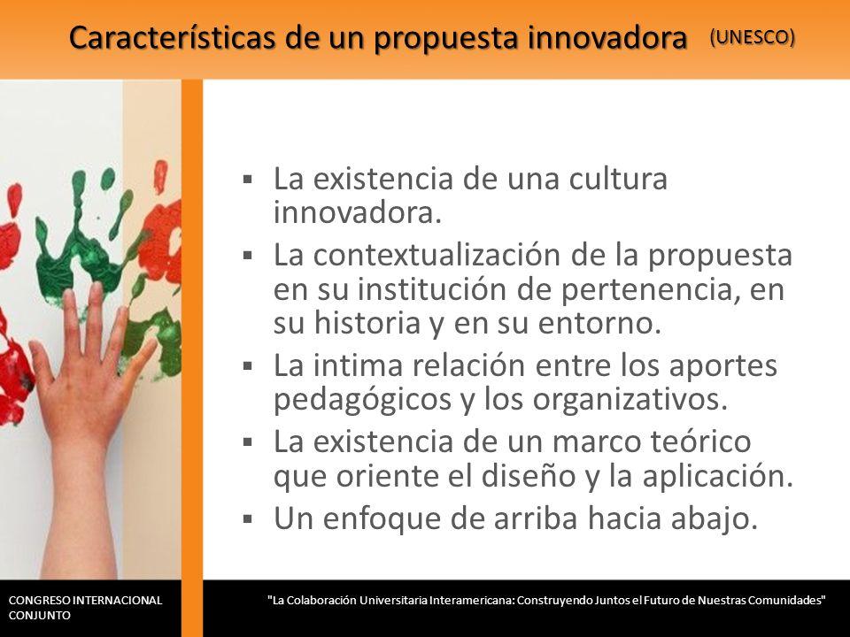 Características de un propuesta innovadora