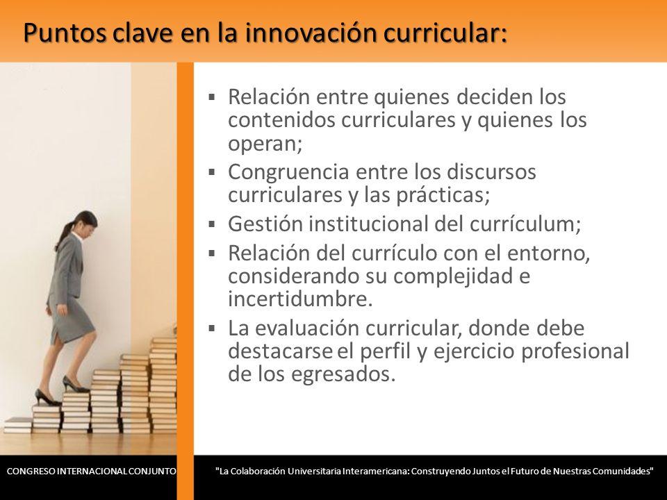 Puntos clave en la innovación curricular: