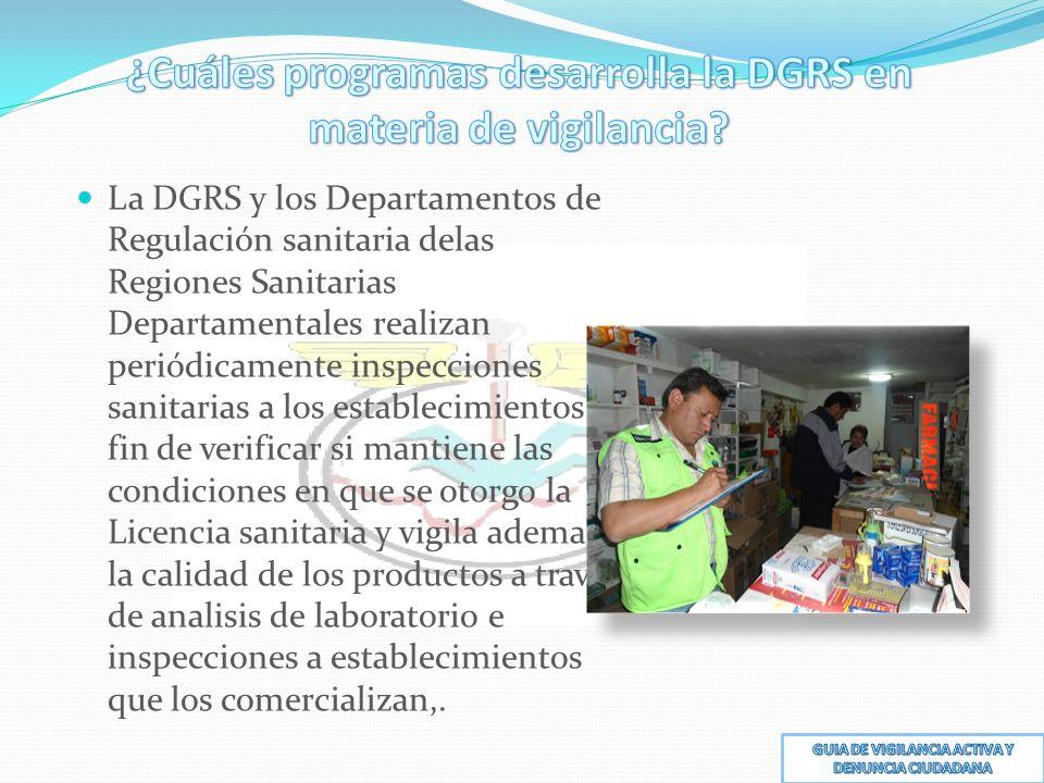 ¿Cuáles programas desarrolla la DGRS en materia de vigilancia