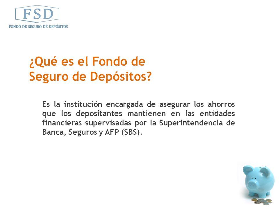 ¿Qué es el Fondo de Seguro de Depósitos
