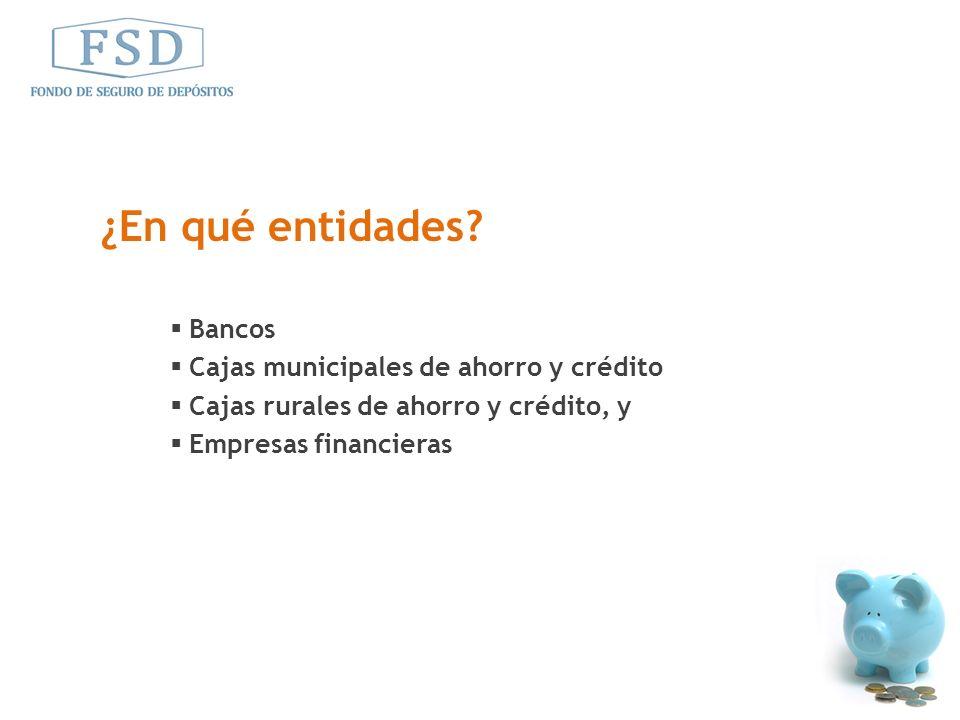 ¿En qué entidades Bancos Cajas municipales de ahorro y crédito