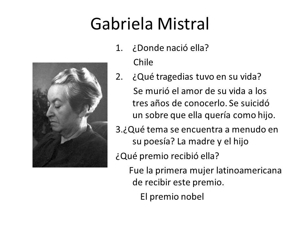 Gabriela Mistral ¿Donde nació ella Chile