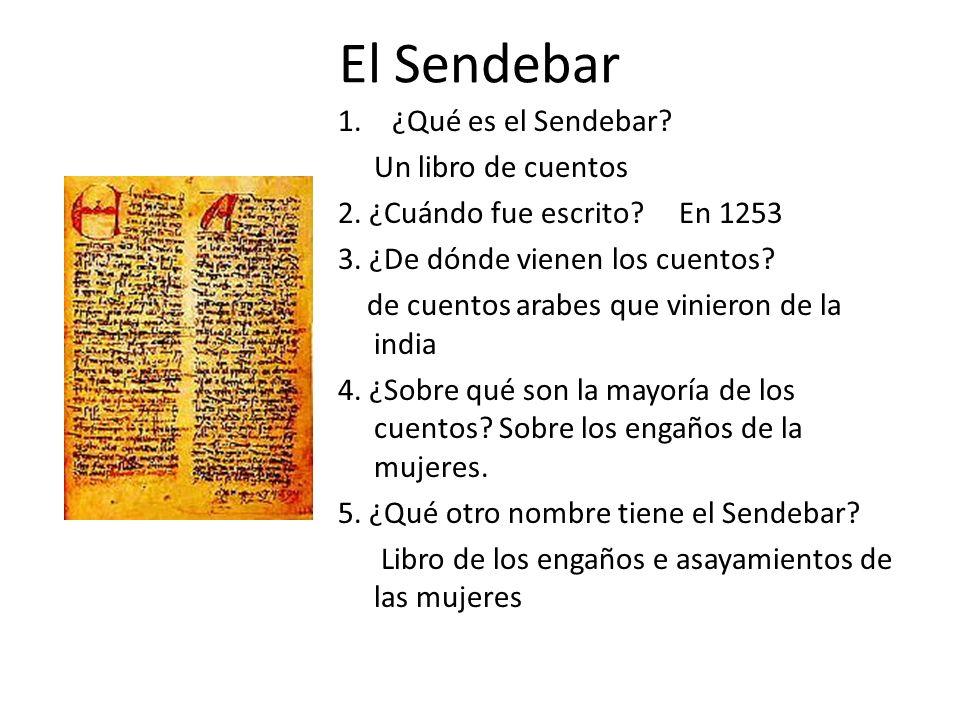 El Sendebar ¿Qué es el Sendebar Un libro de cuentos