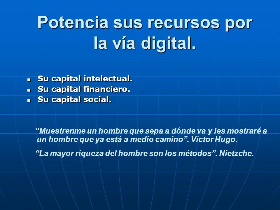 Potencia sus recursos por la vía digital.