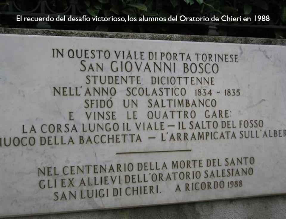 El recuerdo del desafío victorioso, los alumnos del Oratorio de Chieri en 1988
