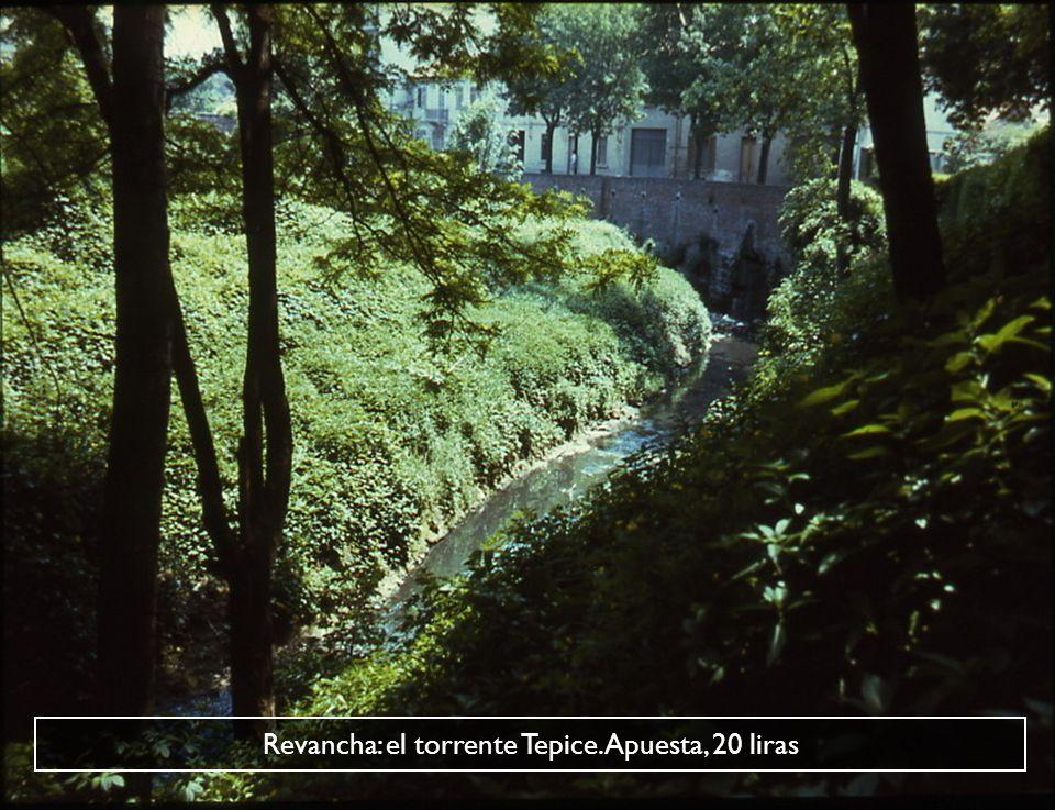 Revancha: el torrente Tepice. Apuesta, 20 liras