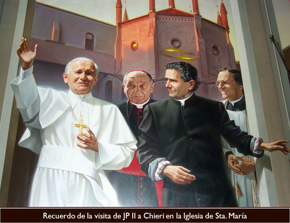Recuerdo de la visita de JP II a Chieri en la Iglesia de Sta. María