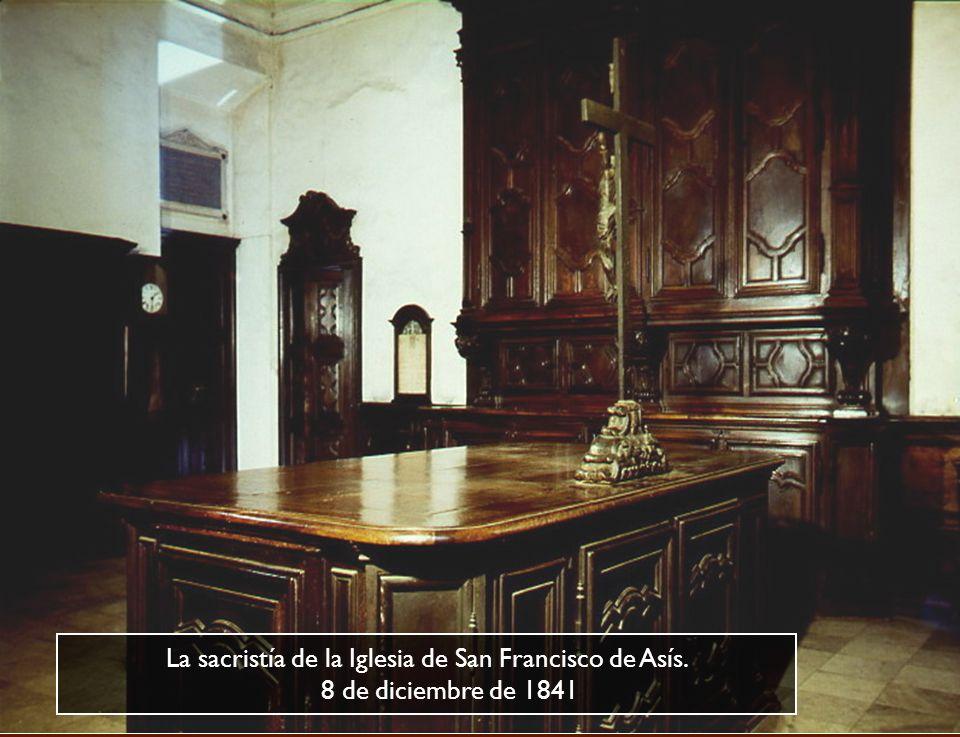 La sacristía de la Iglesia de San Francisco de Asís