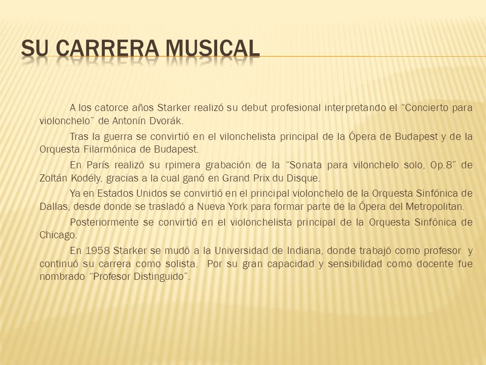 Su carrera musical