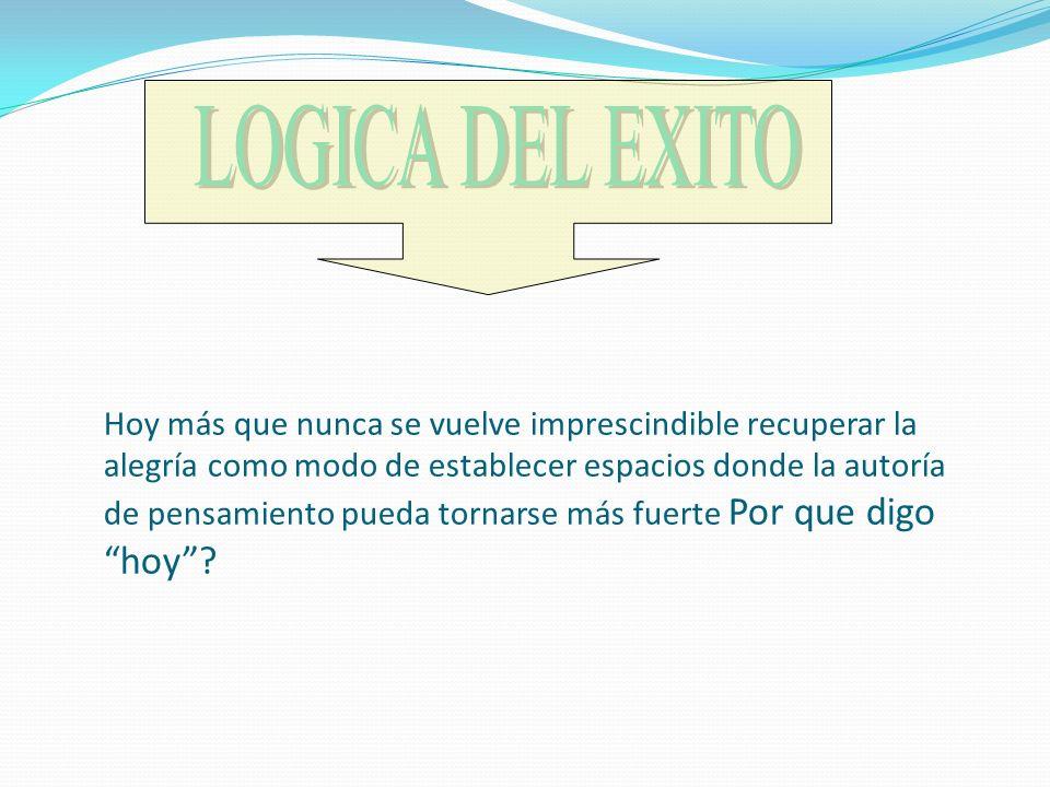 LOGICA DEL EXITO