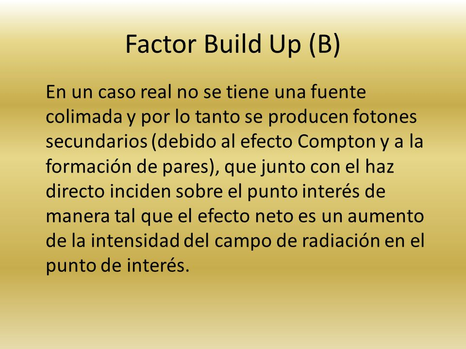 Factor Build Up (B)