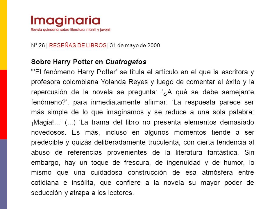 Sobre Harry Potter en Cuatrogatos