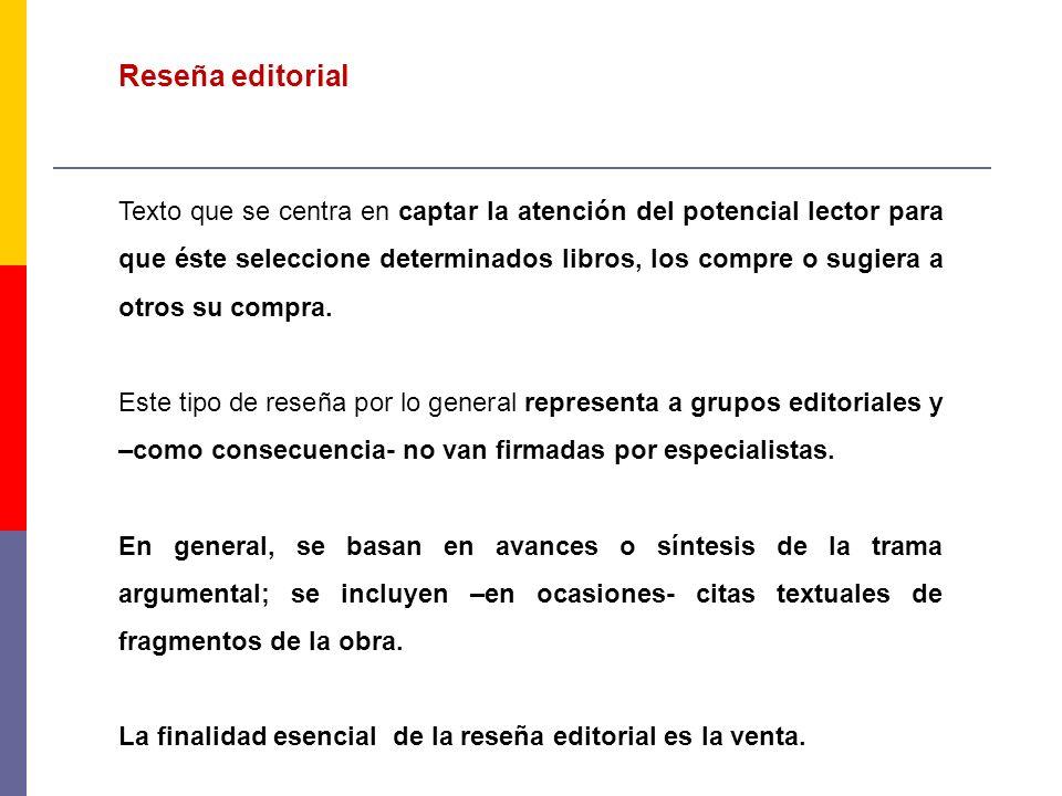 Reseña editorial