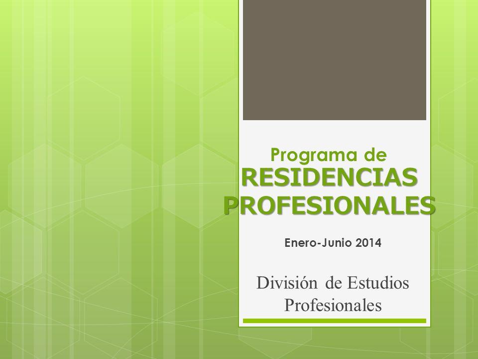Programa de RESIDENCIAS PROFESIONALES